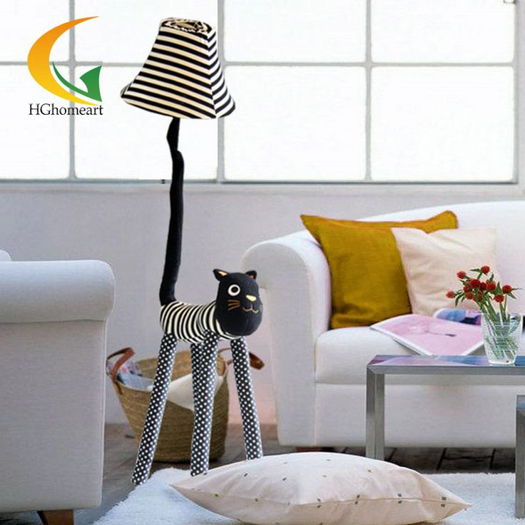 creative cartoon cloth star meow indoor floor lamp for decoration cozy cute living room bedroom bedside