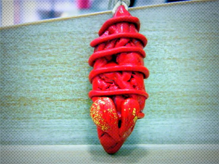 Polymer clay pendant!