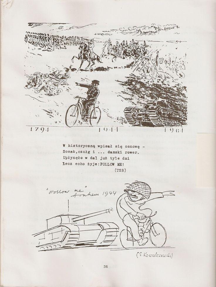 Gen. Sosabowski dowodzący akcją bojową na damskim rowerze