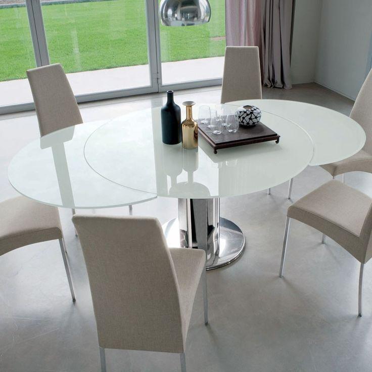 Bontempi Casa Cruz Extending Table Glass