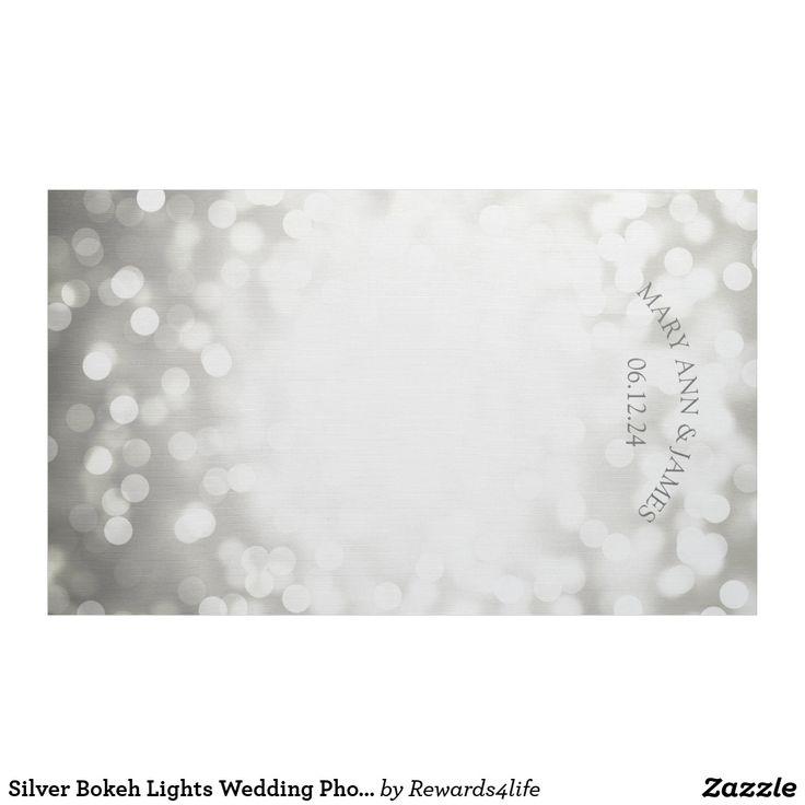 Silver Bokeh Lights Wedding Photo Backdrop