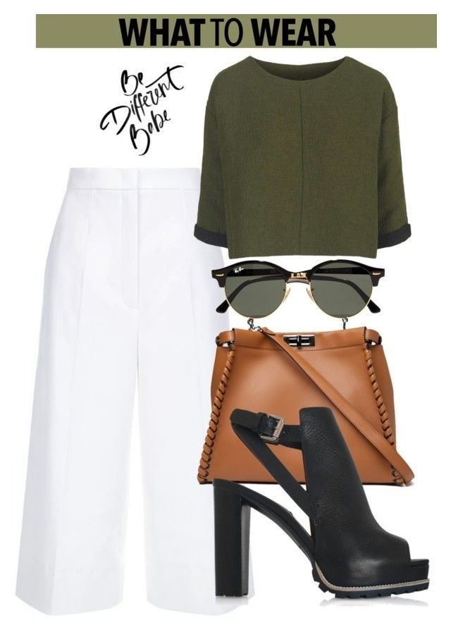 OOTD by dopegeezy ❤ liked on Polyvore featuring ESCADA, Topshop, Fendi, See by Chloé and Ray-Ban