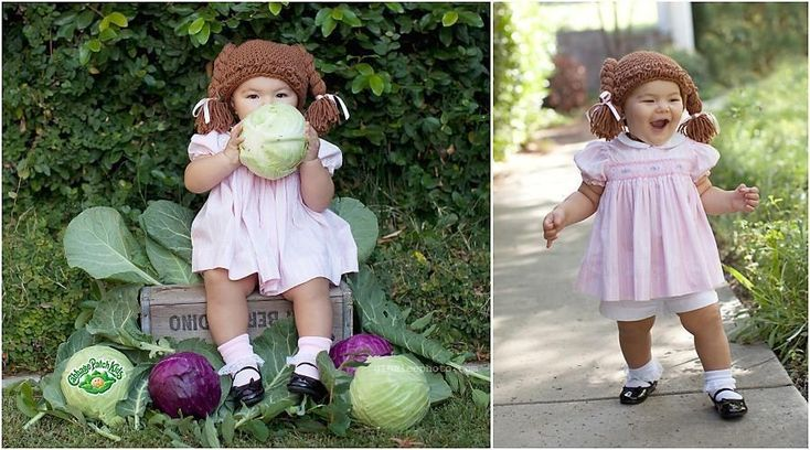 She turned herself into a Cabbage Patch Kid...