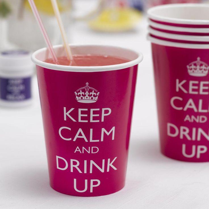 gobelets jetables en papier keep calm and drink up anniversaire                                                                                                                                                                                 Plus
