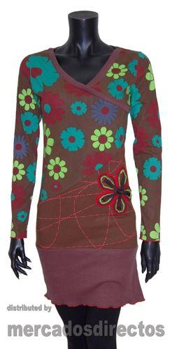 Vestidos de Invierno con Estampados de Flores de Colores.