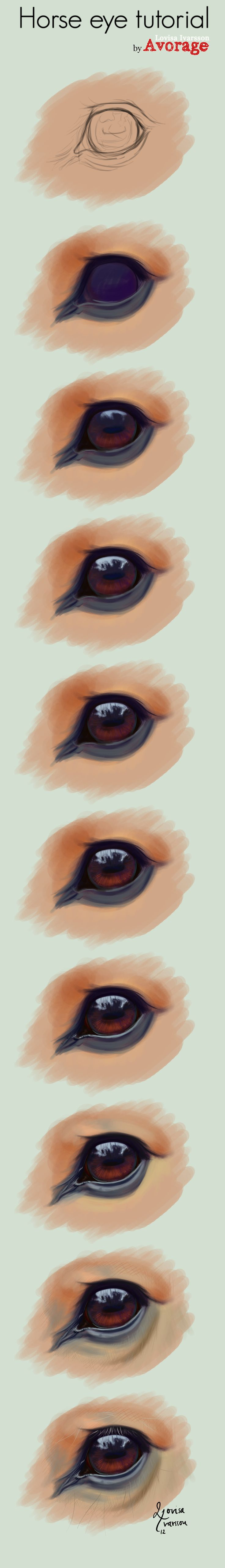 Horse Eye Tutorial by Avorage.deviantart.com on @deviantART