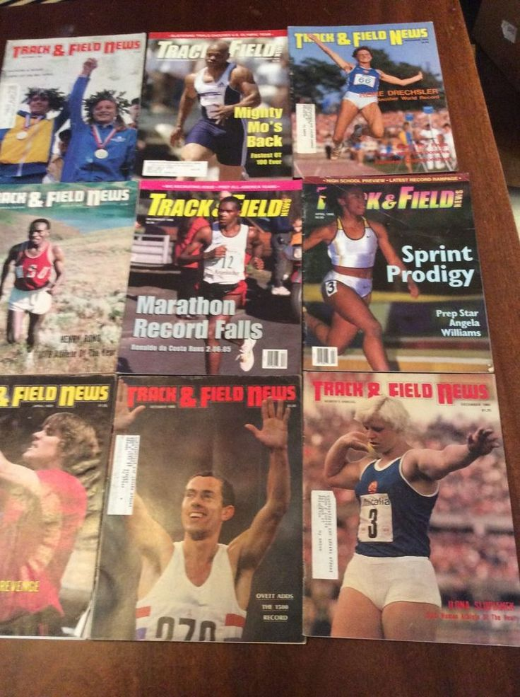 nine issues of track and field news from $10.0