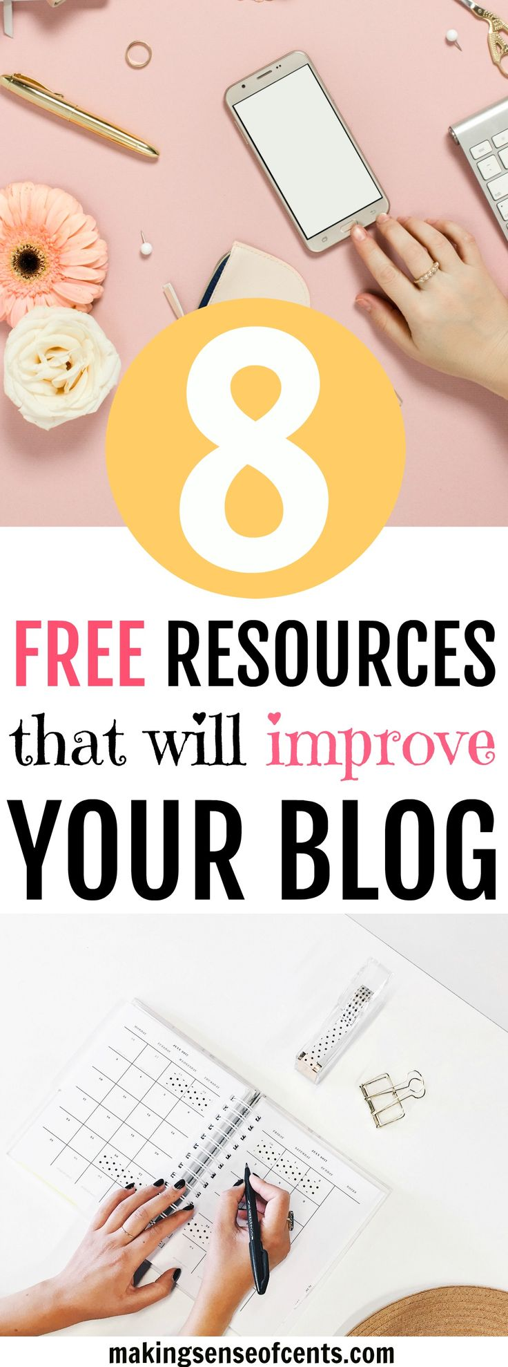 Looking to improve your blog? Here are 8 blogging freebies that will help you improve your blog. #blogfreebies #howtostartablog #blogging