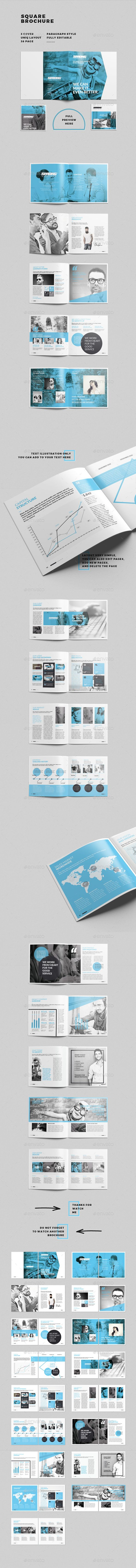 Square Brochure  #customizable #customize #design • Available here →…
