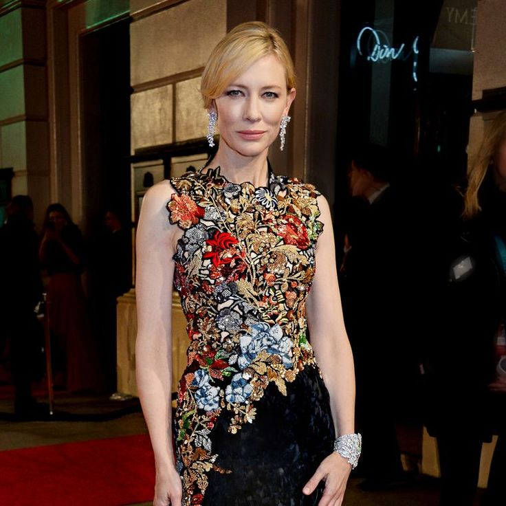 Cate Blanchett wearing Tiffany & Co earrings and bracelet to the 2016 BAFTAs