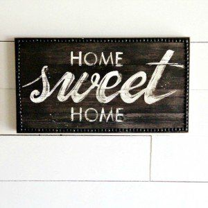 """Home Sweet Home"" Wall Art"