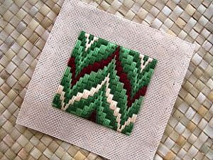 Imitation embroidery Bargello (Bargello, bargello) from polymer clay | Fair Masters - handmade, handmade