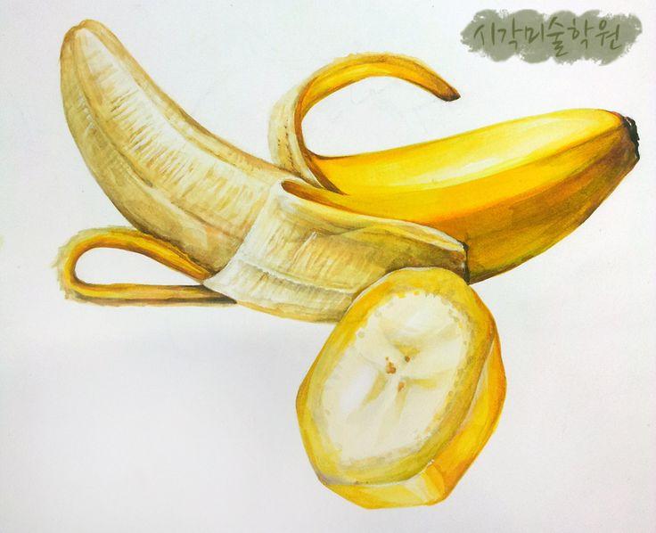 개체묘사 바나나그리기 : 네이버 블로그