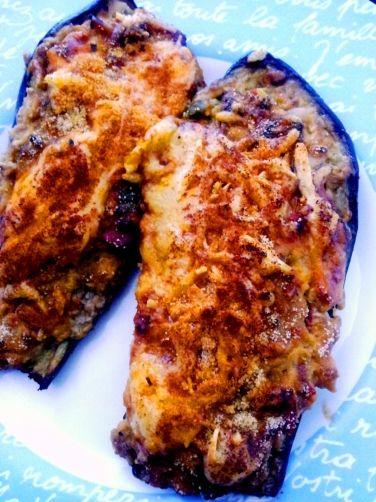 Berenjenas rellenas de carne para mycook http www - Berenjena rellena de carne ...
