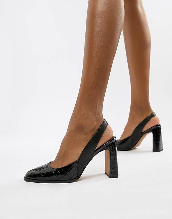 58bcb36c8ea8 ASOS DESIGN Payday slingback high heels