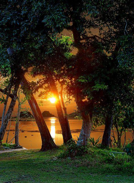 Sunset in the Tropics, Baku and Kota Kinabalu, Malaysia.