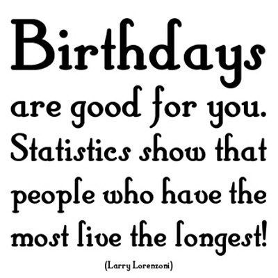 Birthday quote the more you have the more you live                                                Happy birthday Alonso Alayo