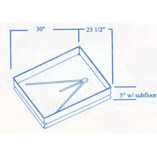 #448 Skyline RV fiberglass shower pan