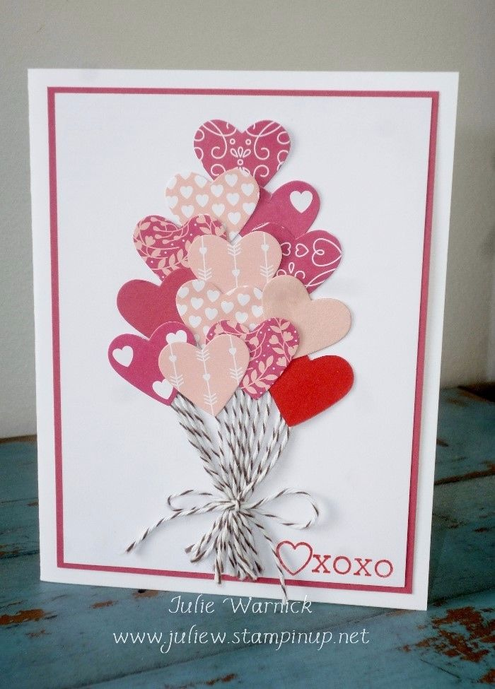 Quick valentine card by julie warnick sentiment from for Designs for valentine cards