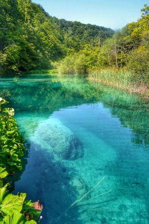 Plitvice Lakes National Park, Plitvički Ljeskovac, Croatia -...