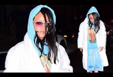 Rihanna rocks sports-luxe ensemble for night out clubbing in NYC