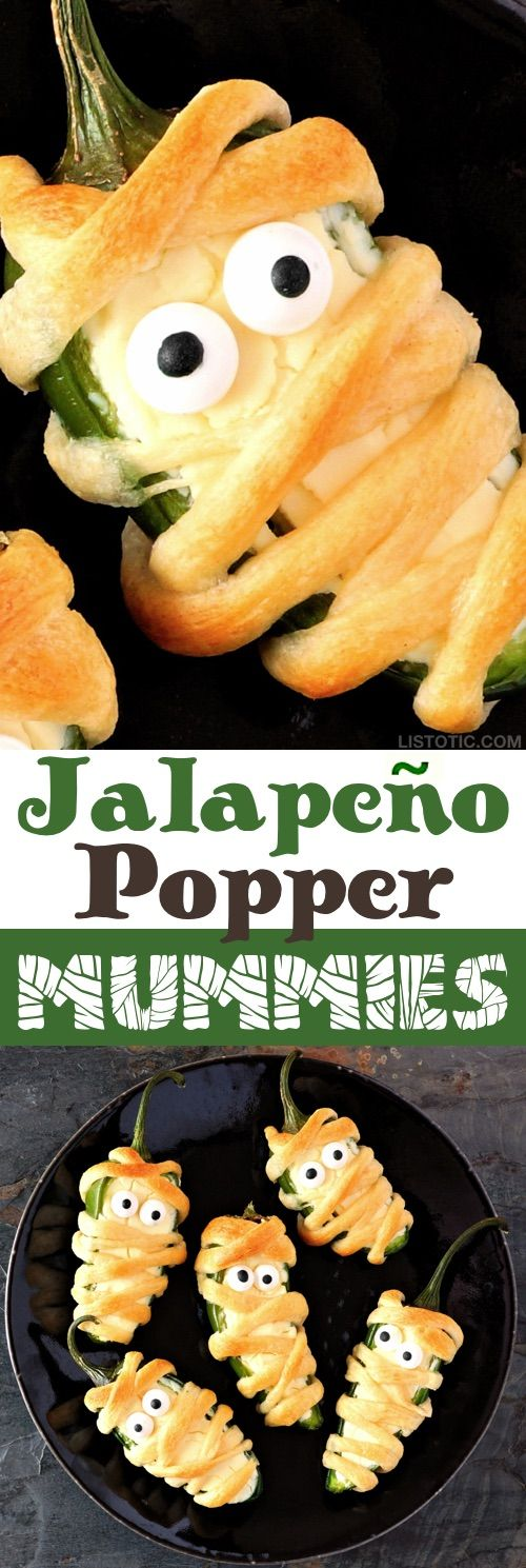 My 10 FAVORITE Halloween Party Appetizers! These Jalapeño Mummies are SO GOOD!-…