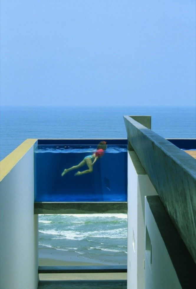 suspended pool, PeruCasa Equis, Swimming Pools, Dreams Home, Beach House, Rooftops Pools, Peru, The Ocean, Modern Architecture House, Ocean View