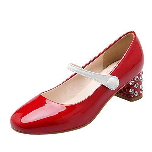 ENMAYERレッド新しい春とローヒールの靴ラウンド浅い口甘いカジュアルシューズの潮の靴と厚い秋39 ENMAYER https://www.amazon.co.jp/dp/B01NAI9EBA/ref=cm_sw_r_pi_dp_x_cF7tyb7BE3R16