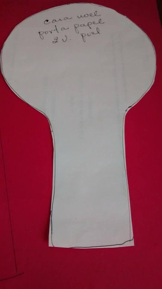 cabeza noel portapapel noels head pattern