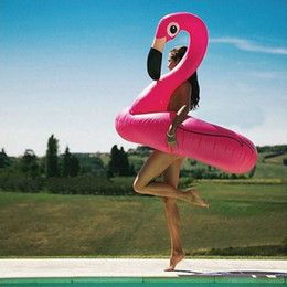 120CM Giant Swan Inflatable Flamingo Float New White And Pink Swan Inflatable Fl…