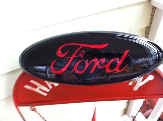 9 Quot Ford Quot Black Amp Red Quot Tailgate Or Grille Emblem Stick On
