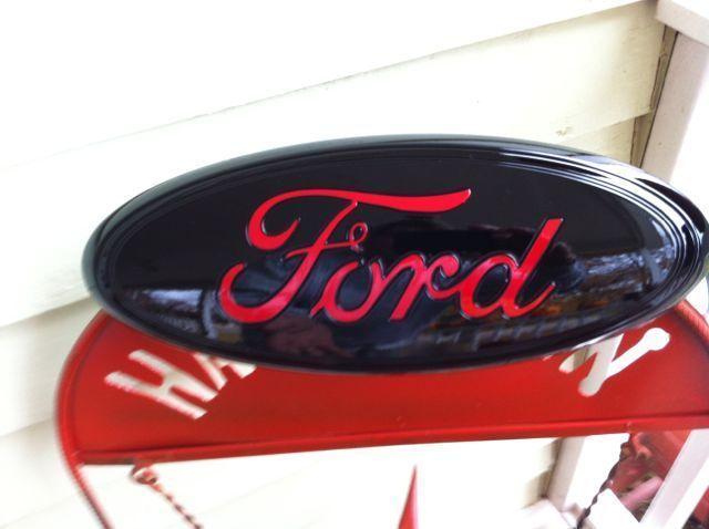 9  FORD- BLACK u0026 RED  Tailgate OR Grille EmblemSTICK ONCUSTOM PAINTOEM DEALER  sc 1 st  Pinterest & Best 25+ Black ford emblem ideas on Pinterest | Ford emblem Ford ... markmcfarlin.com