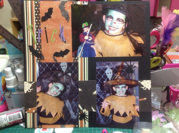 Trick or treat scrapbooking part 1