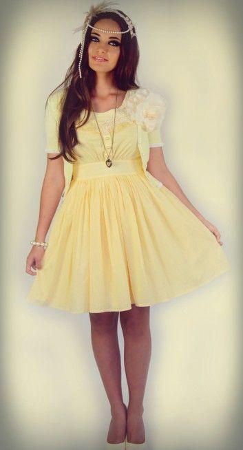 Paper Doll Cardigan (Lemon)