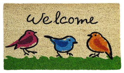 Limpiapiés Golondrinas. Visítanos en tuakiti.com #limpiapies #alfombra #carpet #decoracion #homedecor #hogar #home #ave #pajaro #bird #golondrina #swallow #tuakiti