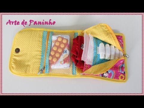 Bolsinha Organizadora para Viagem , Porta Absorvente ,Batom ,Maquiagem - YouTube