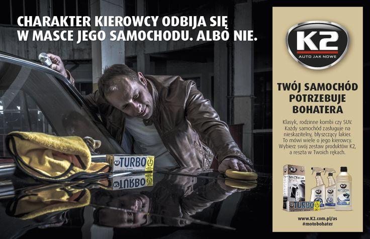 Czy Twój charakter odbija się w masce Twojego samochodu? Więcej o tym jak dbać o auto na k2.com.pl/wiosna