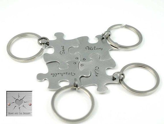 Personalizzato da Damigella Puzzle pezzo di HeartAndSolDesigns