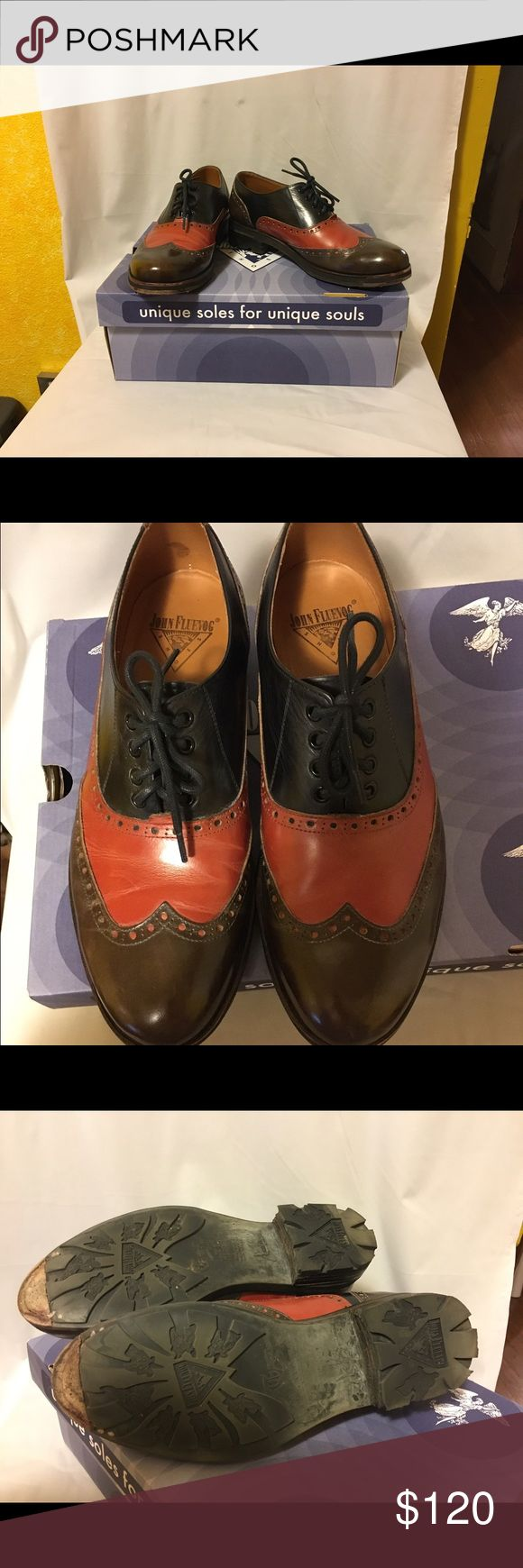 John Fluevog Guardian Angels Andrew Men's size 8.5 (approx women's 10.5) Only worn a few times and still in excellent condition. The soles at the toes were repaired by Fluevog under warranty. Ships with box. John Fluevog Shoes Flats & Loafers