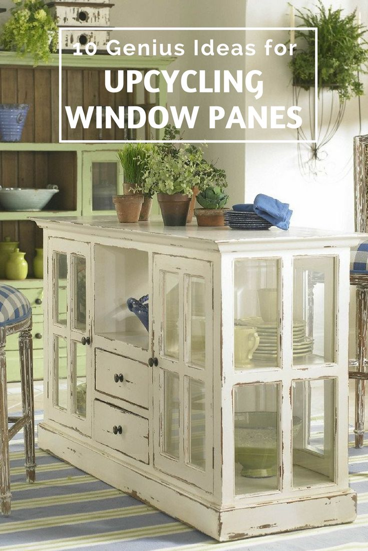 10 Genius Ideas for Upcycling Window Panes - I love these upcycled window panes, some great ideas here