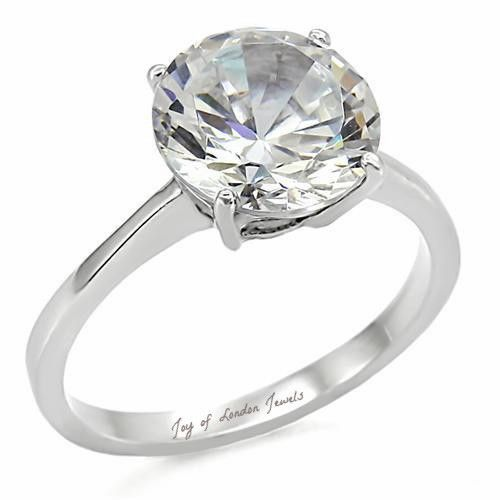 Cool A Perfect CT Round Diamond Cut Solitaire Russian Lab Diamond Ring