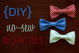 I Heart Pears: 10 Cutest DIY Baby Boy Projects.  NO-Sew baby bow ties!  I'm doing this like right away!