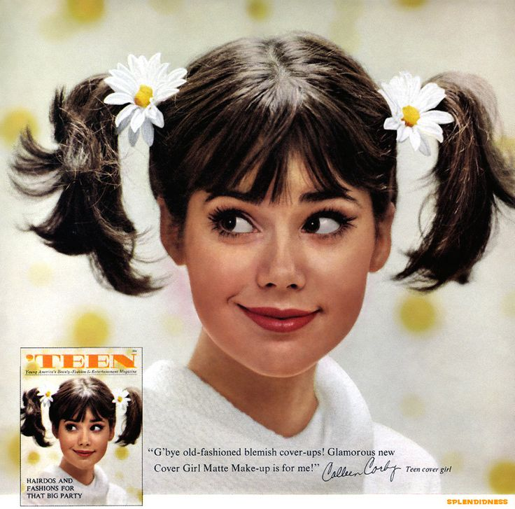 Colleen Corby, 1964 magazine ad for Cover Girl cosmetics.