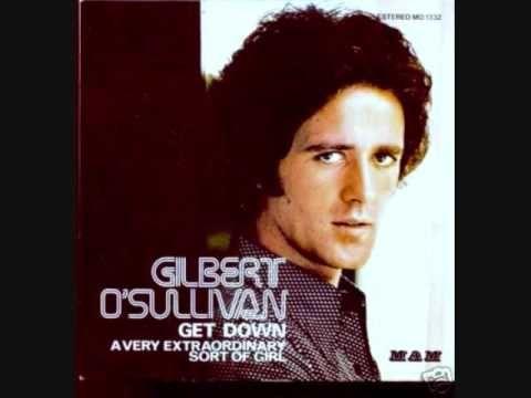 """Gilbert O'Sullivan - Get Down. 1973 album  """" I'm a Writer, Not a Fighter """"."""