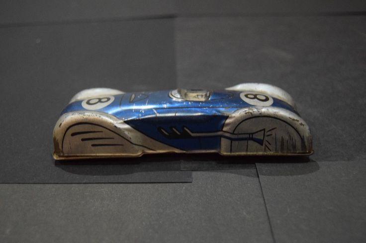 A vintage tin plate Glam Toys Product 1950s race car GTP 522   eBay