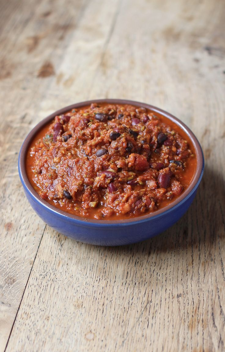 Spicy, flavoursome and filling - Healthy Vegan Two Bean Chilli!