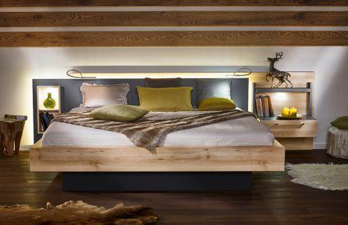 Lanova von Nolte Möbel   Doppelbett Icona Buche/ Graphit