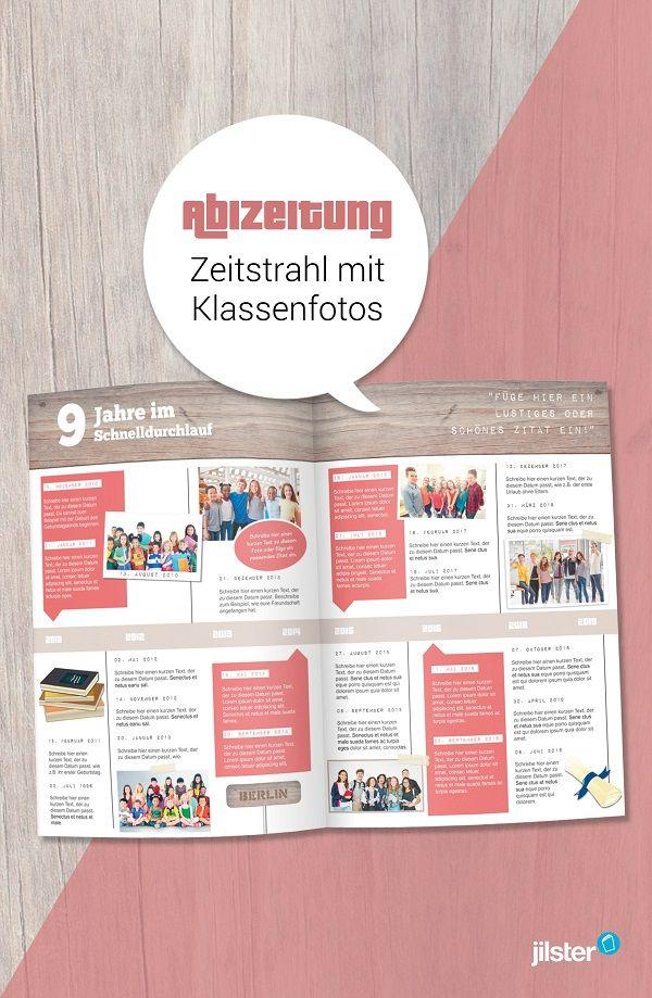 Abizeitung Zeitstrahl Mit Vielen Fotos Gestalten Abizeitung