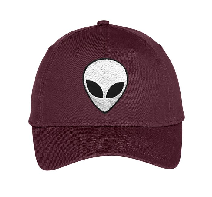 The Alien hat in maroon from UnfitFashion.com.  More styles available.   #alienhat #tumblrhats #tumblr #grunge #grungehat #nasa #nasahat #alienclothing #tumblrclothing #unfitfashion #goth #space #dadcap #baseballcap #edgy #hipster
