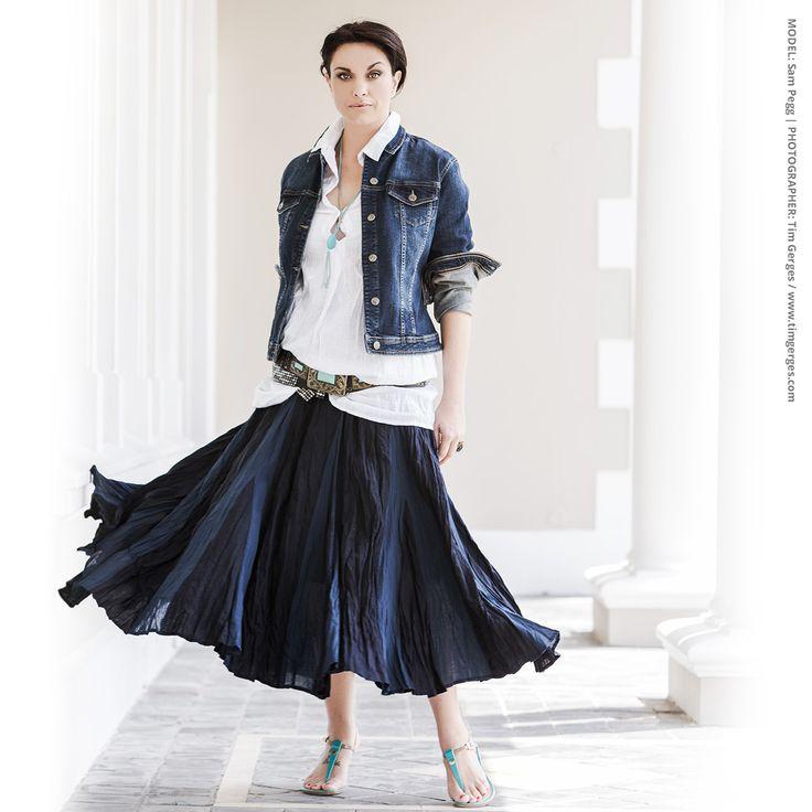 Overdyed Linen New Drum Skirt